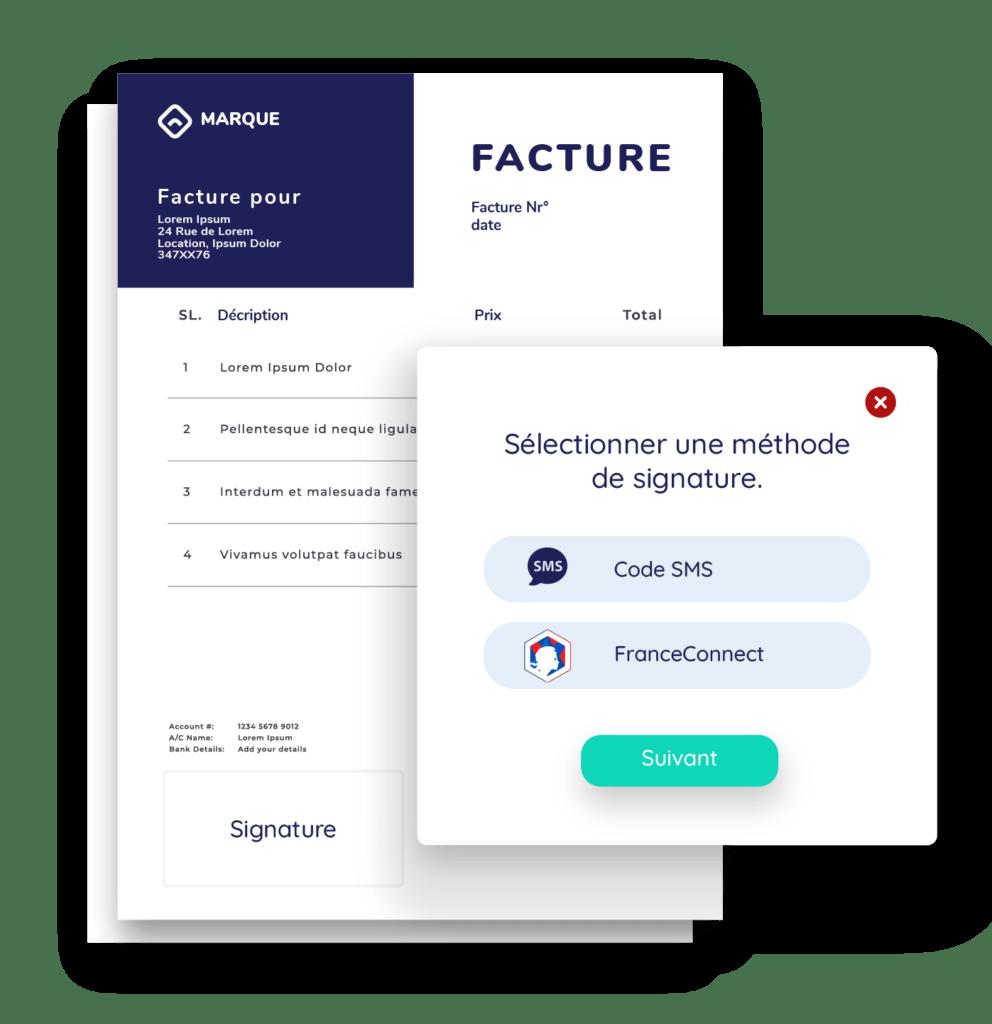 FranceConnect - Selectionner methode de signature