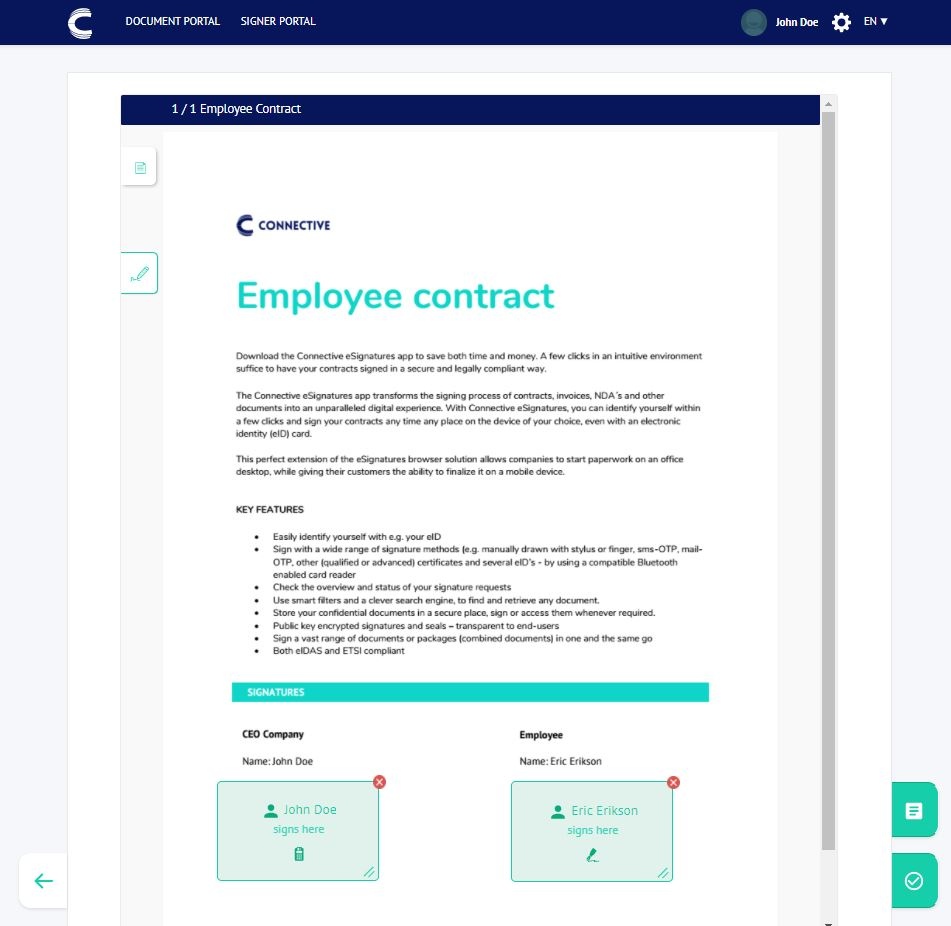 Digitally sign PDF - Signing Fields - Connective eSignatures