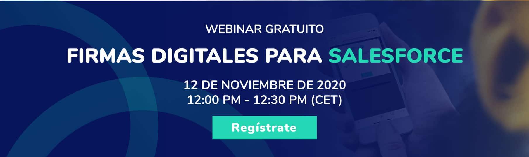 Seminario web - eSignatures para Salesforce - Banner