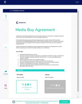 Sign mediabuy Contract - Connective